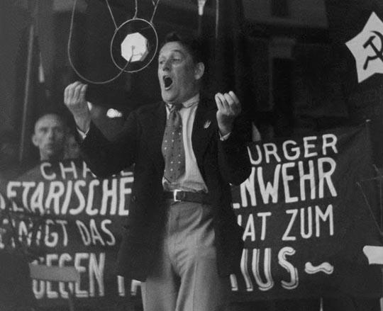 Willi Munzenberg at a rally in Venezuela in the '20s