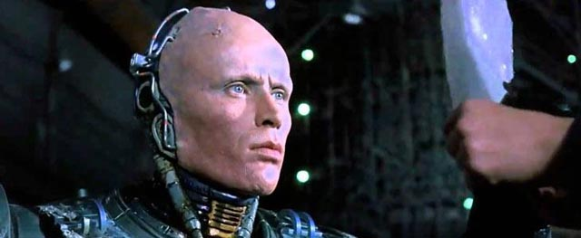 Peter Weller as the quintessential man-droid in Paul Verhoeven's RoboCop (1987)