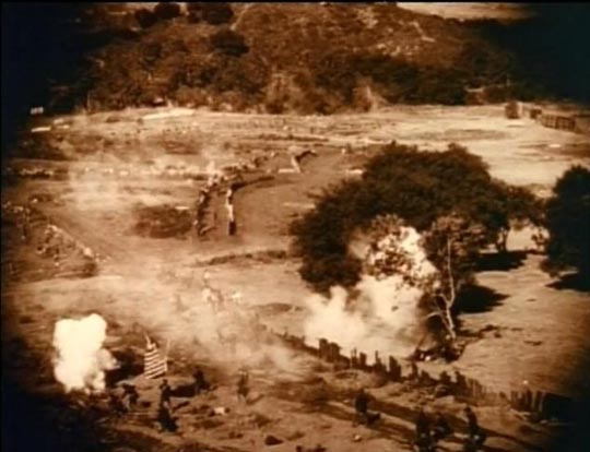 The devastation of battle ... and (below) the Klan's retribution