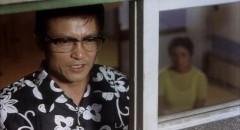 Ogata Ken as Enokizu Iwao , the nihilistic killer in Imamura Shohei's Vengeance Is Mine (1979)