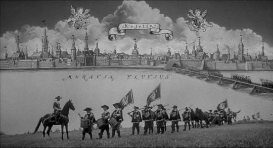 Karel Zeman's playful imagery in A Jester's Tale (1964)
