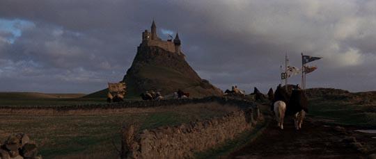 Duncan's entourage rides towards Macbeth's castle