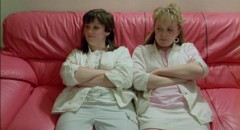 Siobhan Finneran and Michelle Holmes, sexually forthright in Alan Clarke's Rita, Sue and Bob Too (1987)