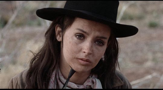 Millie Perkins as avenging fury ... and as enigmatic Abigail