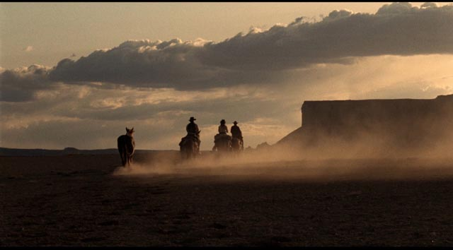Figures in a landscape; lost souls in a barren wilderness. Monte Hellman's The Shooting (1965)