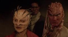 Shuna Sassi (Christine McCorkindale) and Peloquin (Oliver Parker), sympathetic monsters in Clive Barker's Nightbreed (1990)