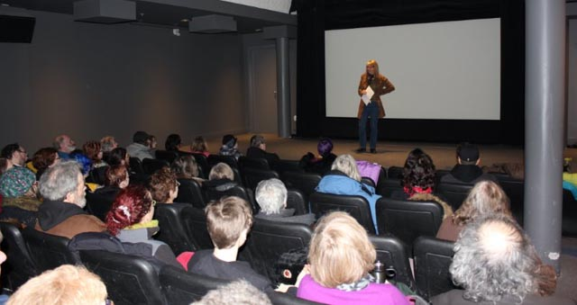 Janine introducing the film at our premiere in the Cinematheque