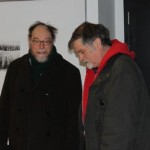 Dave Barber and our mutual friend Howard Curle at the premiere of my documentary Carfree (2014)