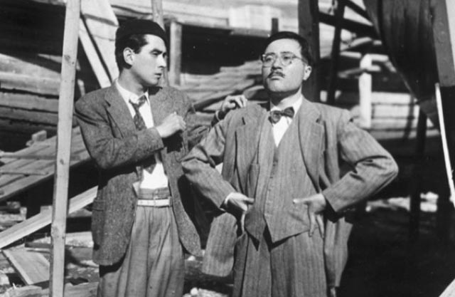 Two con-men, out to fleece an entire village, discover a sense of conscience in Kinoshita's Port of Flowers (1943)