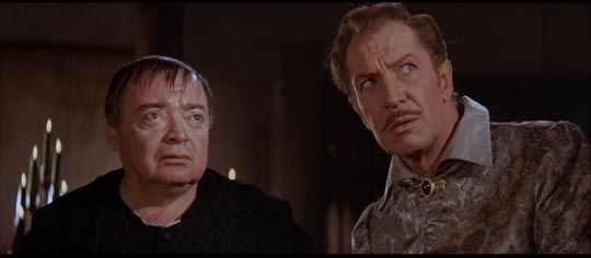 Price and Lorre in The Raven