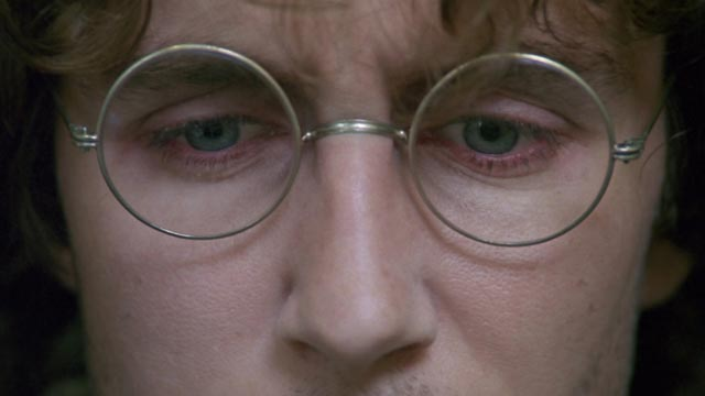 """Paul McGann as """"I"""", the face of paranoid insecurity in Bruce Robinson's Withnail & I"""
