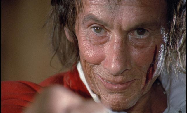 Reggie Nalder as the opportunistic witch-finder in Michael Armstrong's Mark of the Devil (1970)