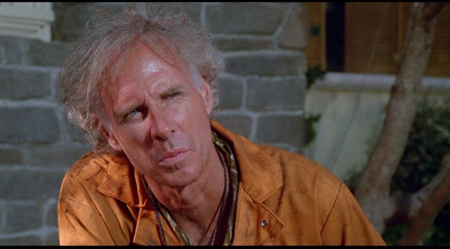 Bruce Dern as paranoid neighbour Mark Rumsfield in Joe Dante's The 'Burbs (1989)