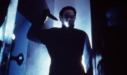 Michael Myers at work in John Carpenter's Halloween (1978)