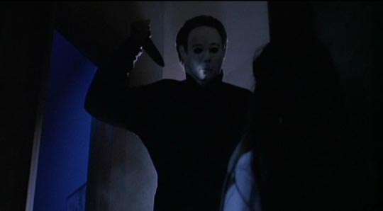 Michael Myers doing what he does best in Halloween 4 ...