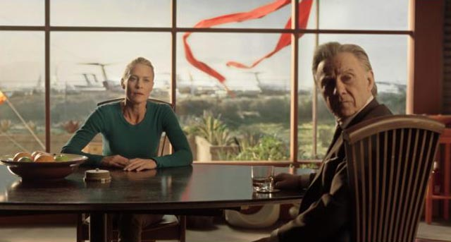 Robin Wright and her agent Al (Harvey Keitel) in Ari Folman's live-action/animation hybrid