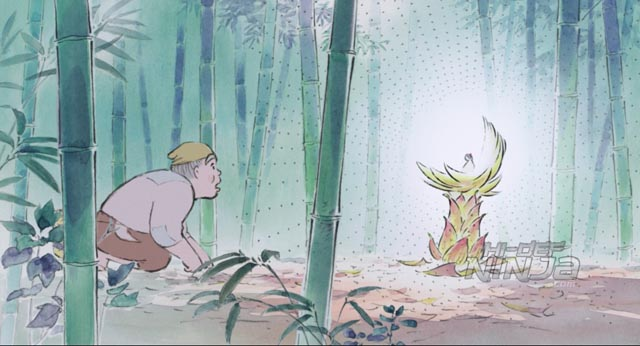 The bamboo cutter discovers a magical child