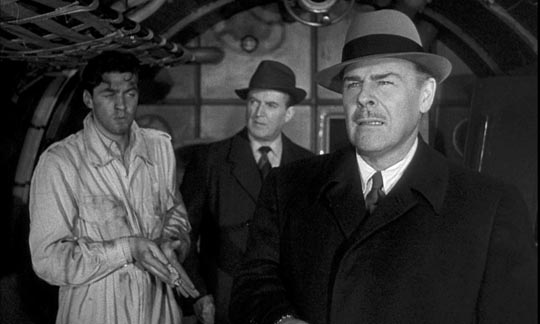 Blustering and arrogant, Brian Donlevy bulls his way through The Quatermass Xperiment