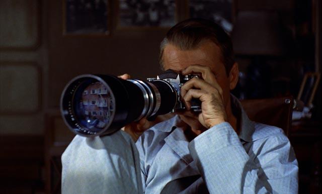 Hero as voyeur: James Stewart in Rear Window