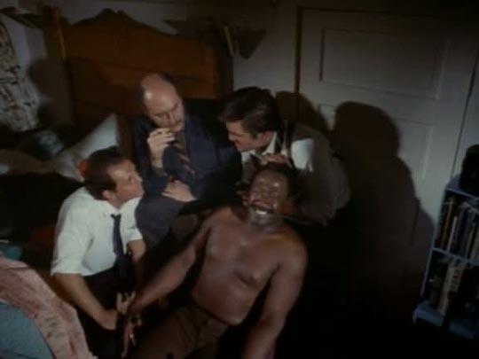 Sweetback tortured by white cops in Melvin Van Peebles' groundbreaking movie