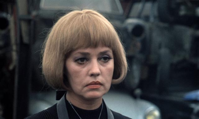 Jeanne Moreau, remaking herself according to each victim's desire in The Bride Wore Black (1968)