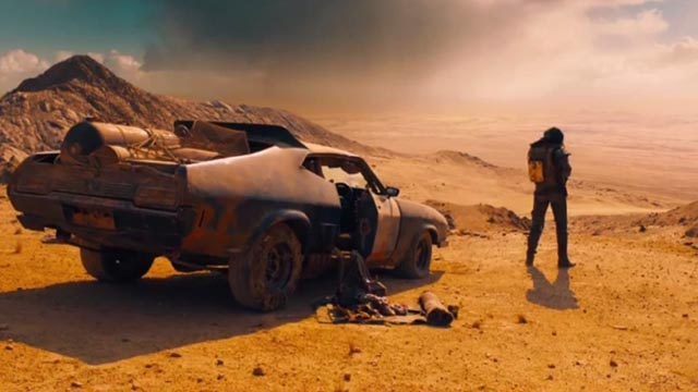 The iconic Mad Max image which opens Mad Max: Fury Road