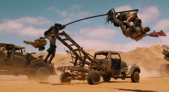 Insane stunts substitute for fake CG imagery in Fury Road's best sequences