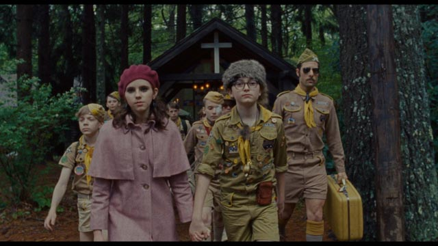 Kara Hayward and Jared Gilman as precociously independent adolescents in Moonrise Kingdom
