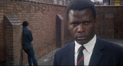 Sidney Poitier as Mark Thackeray, an inexperienced teacher dealing with working class despair in To Sir, With Love (1967)