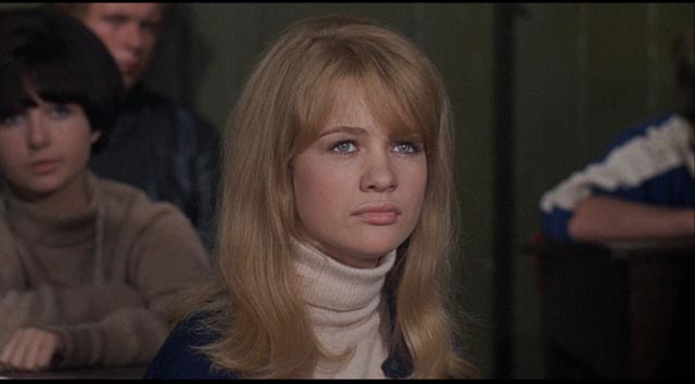 Judy Geeson as the brightest girl in the class