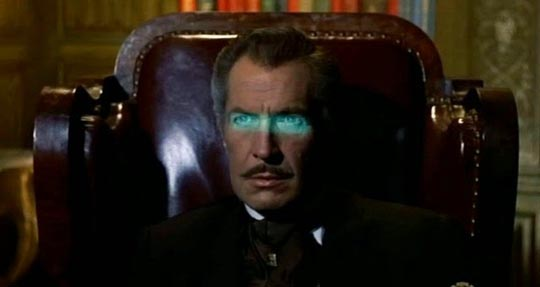Vincent Price as Magistrate Simon Cordier, possessed by the Horla
