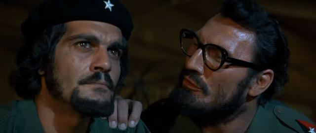 Omar Sharif as Che Guevara and Jack Palance as Fidel Castro in the studio oddity Che! (1969)