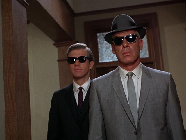 Clu Gulager and Lee Marvin as the killers in Don Siegel's update