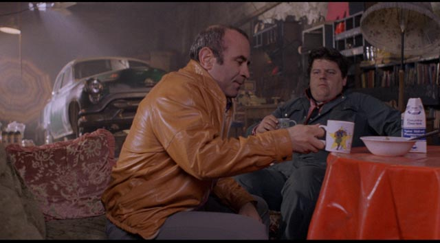 Genuine friendship as the only protection against romantic illusion in Mona Lisa: Bob Hoskins and Robbie Coltrane