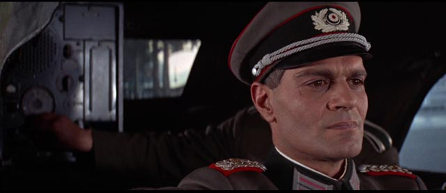 Omar Sharif as the good policeman Major Grau in Anatole Litvak's Night of the Generals (1967)