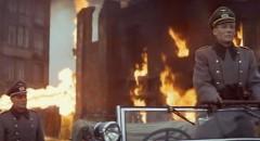 Major Grau (Omar Sharif) witnesses General Tanz' (Peter O'Toole) pleasure in destruction