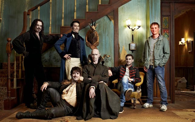 Vampire frat boys in the New Zealand comedy What We Do in the Shadows (2014)
