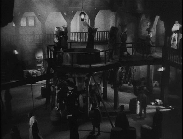 The atmospheric sugar factory in the Halperin Brothers' White Zombie (1932)