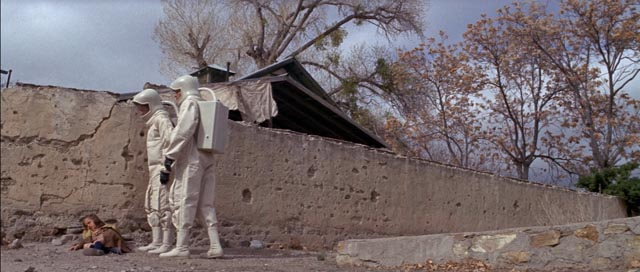 Scientists investigate the dead town in Robert Wise's The Andromeda Strain (1971)