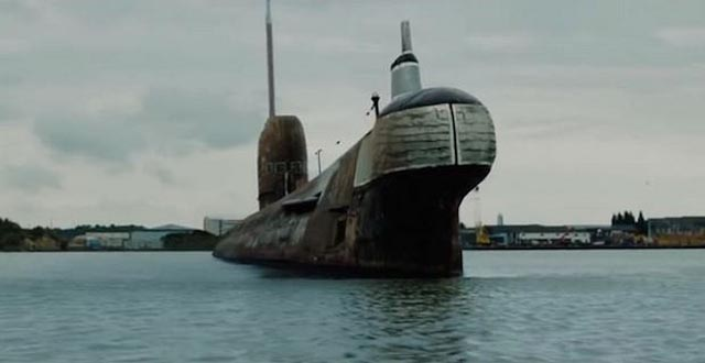 The decommissioned sub used for a fateful salvage operation in Kevin Macdonald's Black Sea (2014)
