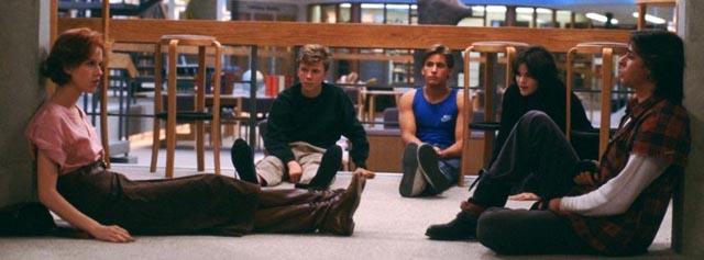 Molly Ringwald, Anthony Michael Hall, Emilio Estevez, Ally Sheedy and Judd Nelson in The Breakfast Club (1985)