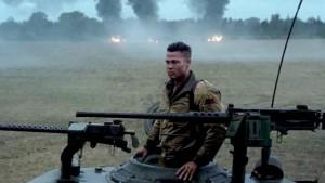 Brad Pitt as tank commander Don Collier in David Ayer's Fury (2014)