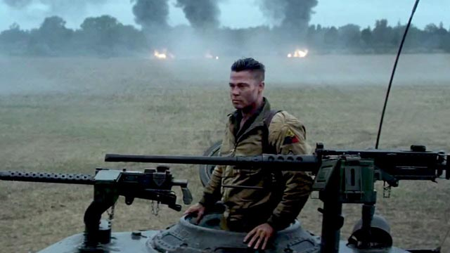 Brad Pitt as tank commander Don Collier in David Ayer's Fury (2014)