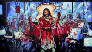 One of Graham Humphreys' religion-inflected concept paintings