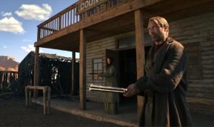 Mads Mikkelsen as the vengeful Jon Jensen in Kristian Levring's The Salvation (2014)
