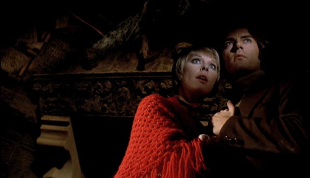 Elke Sommer and Antonio Cantafora feel the evil presence of Baron von Kleist in Mario Bava's Baron Blood (1972)