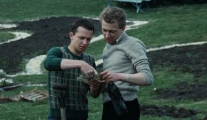 Witek, serving his sentence, discovers a note left by a previous victim of the system in Blind Chance (1981)