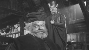 Orson Welles as Shakespeare's tragicomic buffoon Falstaff in Chimes at Midnight (1965)