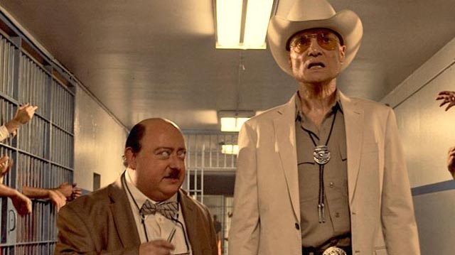 Laurence R. Harvey and Dieter Laser as a perverse Abbott & Costello pair in Human Centipede 3 (2015)