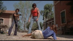 Perhaps the most intensely disturbing scene in Bava's filmography: the brutal humiliation of Maria (Lea Lander) in Rabid Dogs 1974)